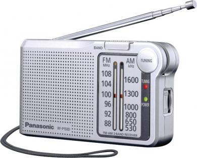 Radio FM portabil Panasonic RF-P150DEG, argintiu