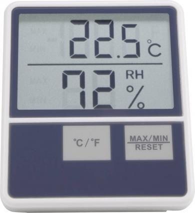 Termohigrometru de interior Basetech BTTH-1014, alb
