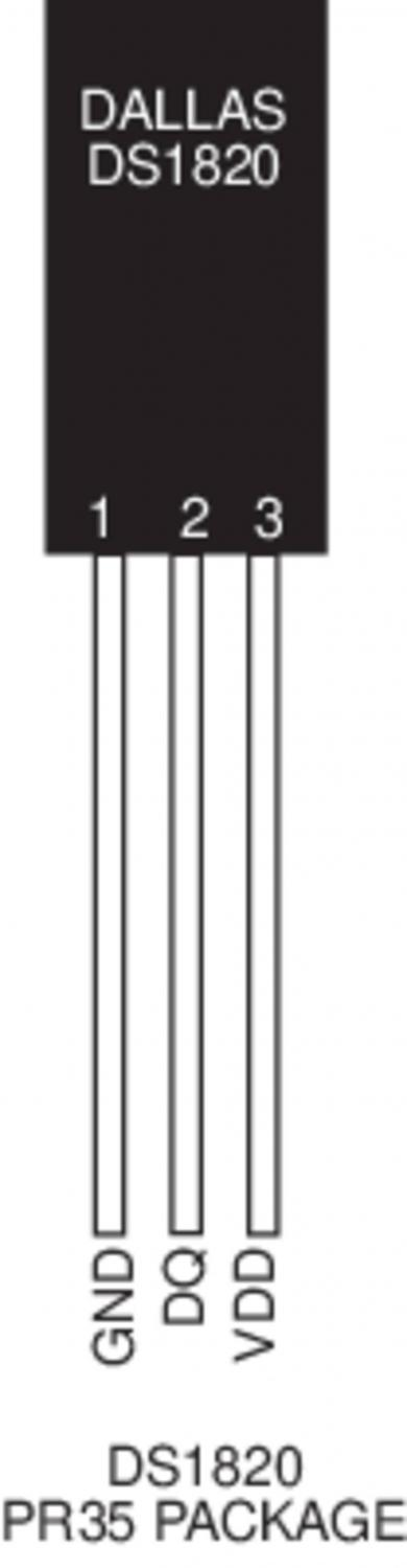 Senzor de temperatură cu ieşire digitală directă Dallas DS18S20