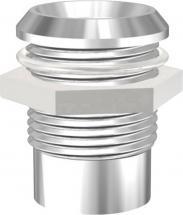 Soclu crom pentru LED de 10 mm