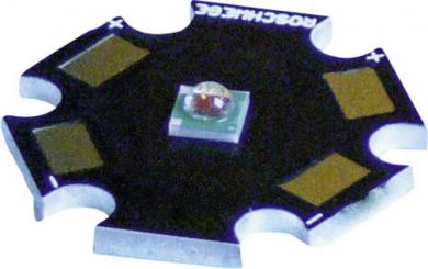 Placă electronică în formă de stea cu led Cree XP-E, tip LSC-G, verde, lungime de undă 520 nm