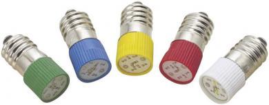 Lampă cu led T10 E10 multi, 2 cipuri, verde, 24 - 28 V DC/AC, lungime de undă 515 - 525 nm