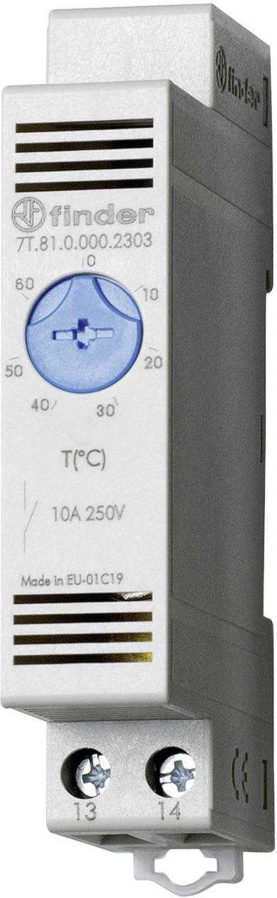 Termostat pentru dulap de comandă, Finder seria 7T.81