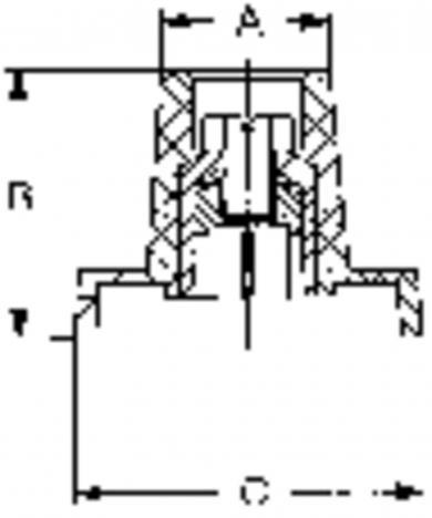 Capac negru Mentor pentru buton Ø 9 mm, tip 4129.063