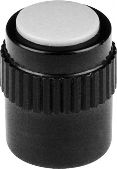Buton Mentor cu falcă de prindere, seria 11,5, negru, diametrul axei 3 mm