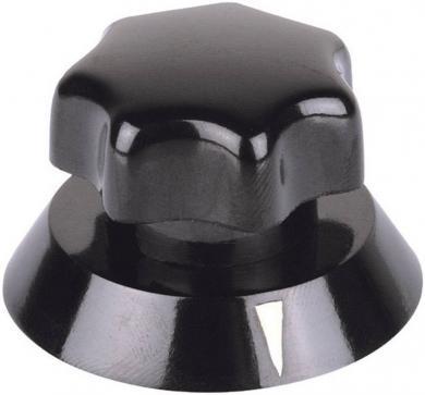 Buton rotativ Mentor cu disc indicator, negru, diametrul axei 6 mm