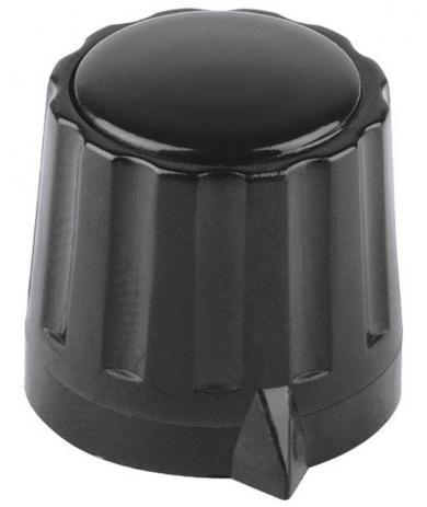 Buton Mentor, seria 36, buton pentru seria 36, negru, diametrul axei 6 mm