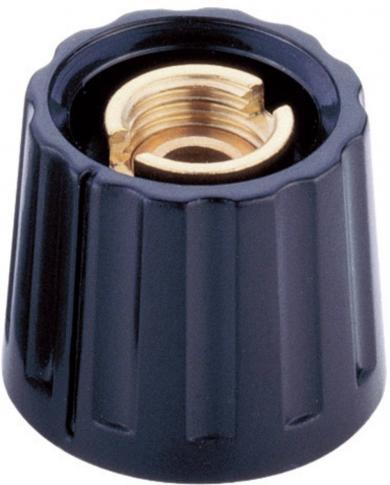 Buton Mentor cu falcă de prindere, seria 20, negru, diametrul axei 6 mm