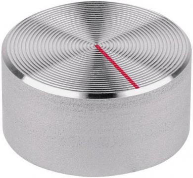 Buton aparat de măsură Mentor, aspru, aluminiu, Ø ax 6 mm, tip 512.61