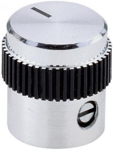 Buton metalic de înaltă calitate Mentor, Ø ax 6 mm, tip 5615.6614