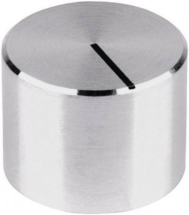 Buton aparat de măsură Mentor, neted, aluminiu, Ø ax 6 mm, tip 522.6191