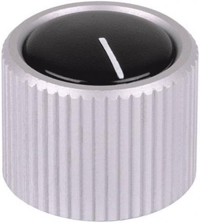 Buton metalic pentru aparate Mentor, transparent, fără capac și indicator, Ø ax 6 mm, tip 532.6