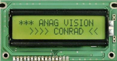 Display LC dot matrix 5 x 7 galben-verde, 6 V/DC, (l x Î x A) 84 x 44 x 13,5 mm, 6H LED EV