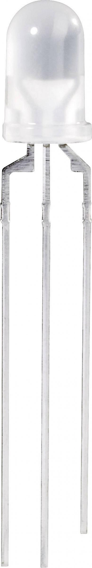 Led bicolor 5 mm, CQX 95 / WU-1-91EWG, roșu / verde, 60°, tipul carcasei 5 mm, 90/70 mcd