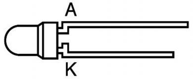 Led translucid 3 mm, L934YC, galben, 50º, 10 mcd