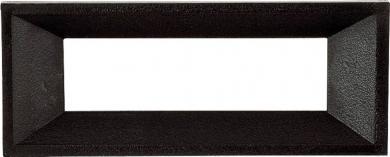 Ramă frontală pentru ecrane digitale, negru, pentru dimeniunea cifrelor de 13 mm, decupaj (interior) 50 x 19 mm