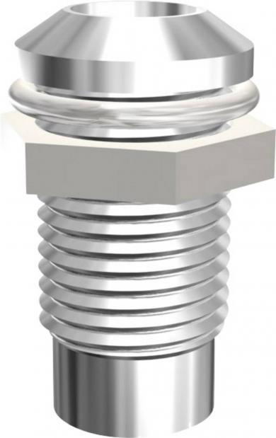 Soclu pentru leduri 5 mm, metal, montare prin şurub, Signal Construct SMQ1089