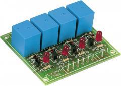 Kit placă releu Quad, 9 V/DC, 300 mA