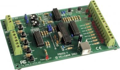 Placă interfaţă experimentală USB, kit asamblare