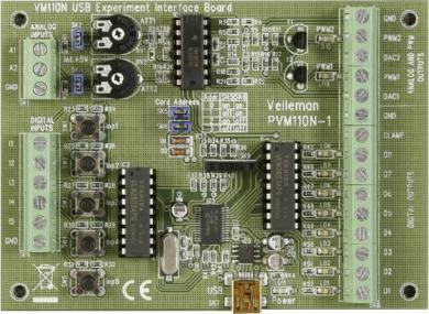 Placă interfaţă experimentală USB, modul