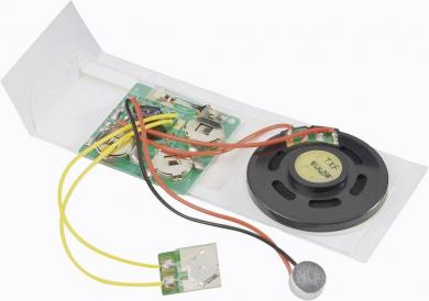 Modul de înregistrare vocală pentru felicitări, 10 s, 4.5 V/DC, timp de înregistrare 10 s