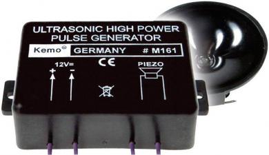 Generator ultrasunete anti-dăunători (jderi, mistreţi, căprioare, etc), 120 dB
