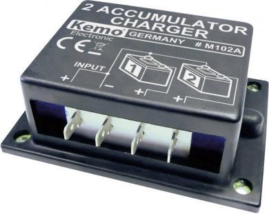 Încărcător pentru doi acumulatori Kemo M102N, modul, 6 - 24 V/DC