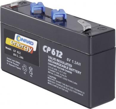Baterie plumb-acid fără întreţinere Conrad Energy 6 V, 1,3 Ah