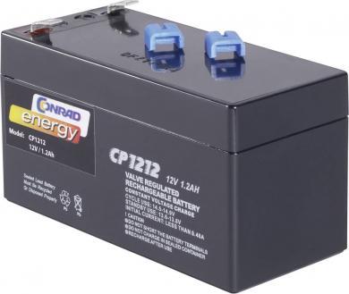 Baterie plumb-acid fără întreţinere Conrad Energy 12 V 1,2 Ah