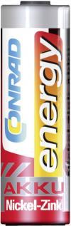Set acumulatori NiZn, AA, 1,6 V, 1500 mAh, 4 buc., Conrad energy