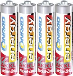 Set acumulatori NiZn, AAA, 1,6 V, 550 mAh, 4 buc., Conrad energy