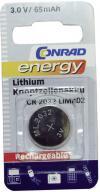 Baterie buton reîncărcabilă litiu, CR2032