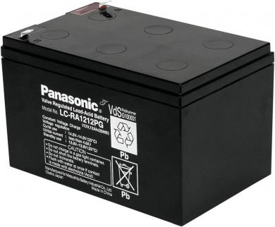 Acumulator plumb AGM 12 V, 12 Ah, (l x Î x A) 151 x 94 x 98 mm, Panasonic LC-RA1212PG1