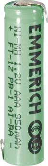 Acumulator NiMH cu urechi de lipire Z, AAA, 1,2 V, 950 mAh, Emmerich
