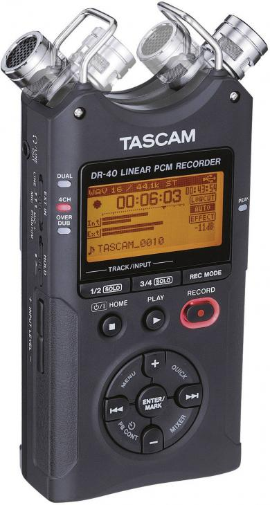 Recorder audio portabil Tascam DR-40, negru