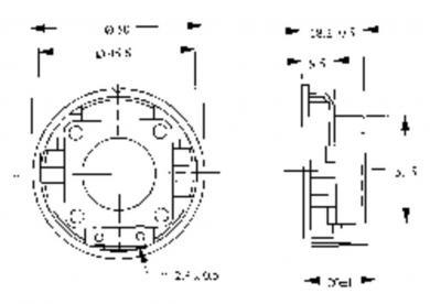 Difuzor miniatură seria LSM-K/F, tip LSM-50 K/F, 50 Ω