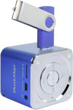 Boxă portabilă MusicMan® Mini Soundstation, albastru