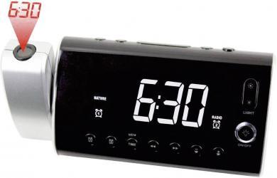 Radio cu ceas Soundmaster UR 1000 cu proiecţia orei şi lumină de trezire