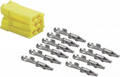 Ştecăr mini ISO galben + 10 contacte