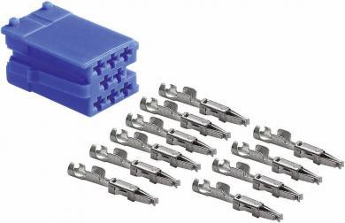Ştecăr mini ISO albastru + 10 contacte