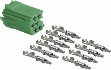 Ştecăr mini ISO verde + 10 contacte