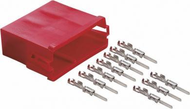 Mufă mini ISO roşie + 10 contacte