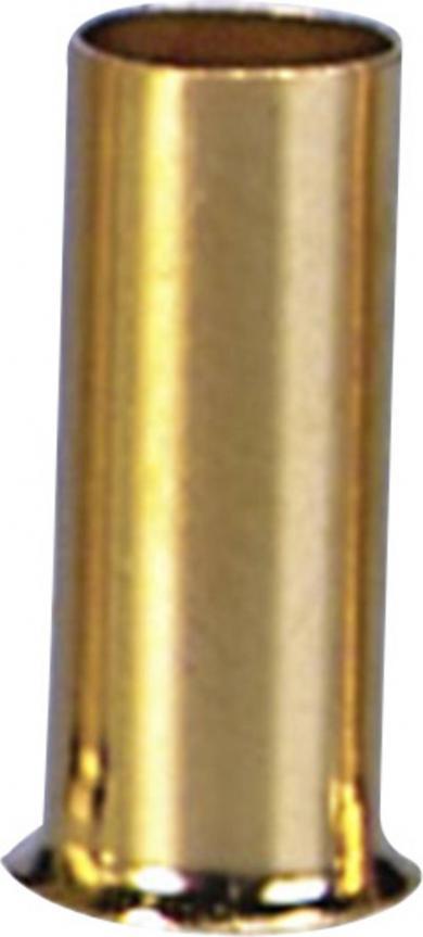 Manşon capăt de cablu, aurit, 2,5 mm²