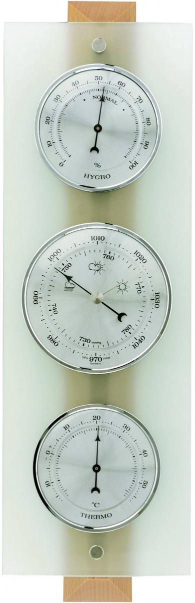 Stație meteo analogică de interior, fag/sticlă, TFA 20.1067.05