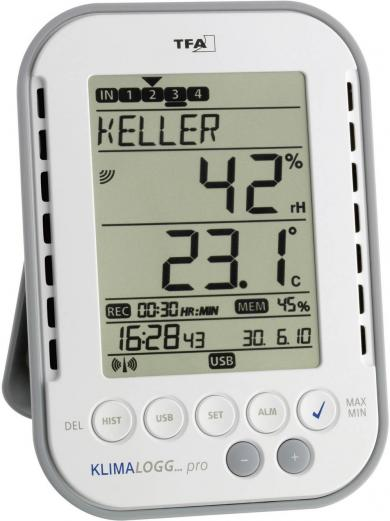 Termo-higrometru TFA KlimaLogg Pro cu funcţia data logger