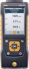 Aparat de măsură viteză aer și calitate aer ambiental cu senzor de presiune diferențială, testo 440 dP
