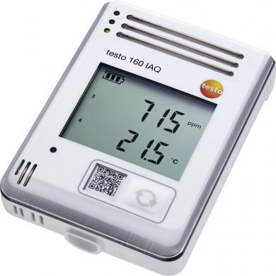 Data logger wireless temperatură, umiditate, CO2, presiune atmosferică, testo 160 IAQ