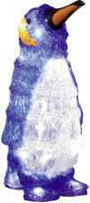 Figurină led pinguin, alb, albastru, Konstsmide 6167-203