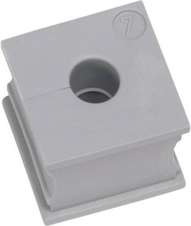 Manşon cablu, Ø min./max. 6/7 mm, elastomer, gri, (L x l) 21 x 21 mm, Icotek KT 6