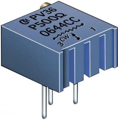 Potenţiometru cermet Murata PV 36 P, PV36P501C01B00, 500 Ω